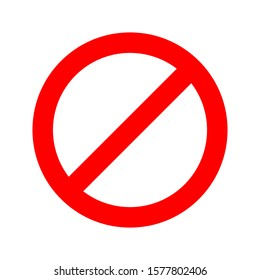 Prohibition sign - vector. No sign isolated. Red Stop icon