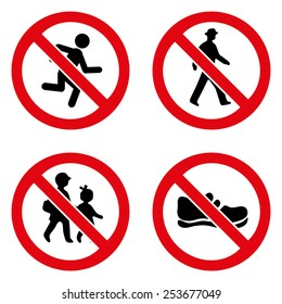 Prohibition signs icon great for any use. Vector EPS10.