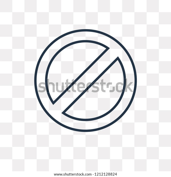 Prohibition Vector Outline Icon Isolated On Stock Vector