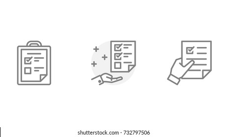 Project details, vector icons set. Contains such Icons as Selection, Recruitment, Documents, Review and more. Pixel Perfect. Illustration.