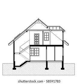 project of house. blueprint