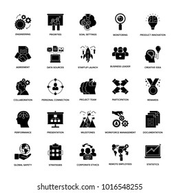 Project Management Glyph Icon Set