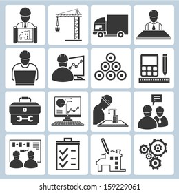 project management icons, engineering management icons