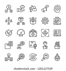 Project Management Outline Vector Icons