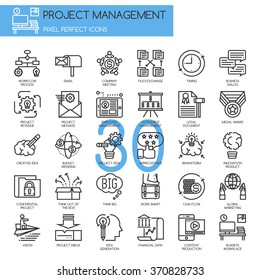 Project management , Thin Line and Pixel Perfect Icons