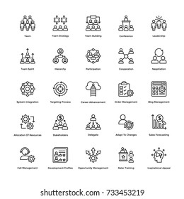 Project Management Vector Icons Set 3