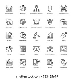 Project Management Vector Icons Set 8