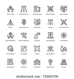 Project Management Vector Icons Set 5