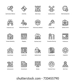 Project Management Vector Icons Set 23