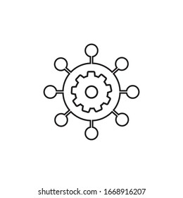 Project management vector line icon. Pixel perfect vector graphics