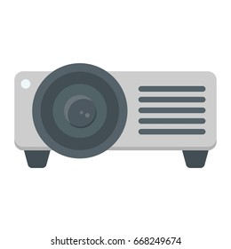 Projector flat icon, presentation and meeting, vector graphics, a colorful solid pattern on a white background, eps 10.