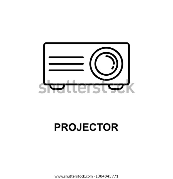 projector icon. Element of cinema for mobile concept and web apps. Thin line projector icon can be used for web and mobile. Premium icon on white background