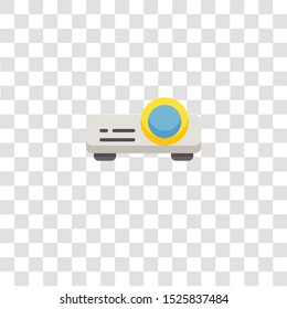 projector icon sign and symbol. projector color icon for website design and mobile app development. Simple Element from electronics collection for mobile concept and web apps icon.