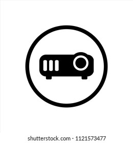 Projector icon in trendy flat style isolated on background. Projector icon page symbol for your web site design logo, app, UI. Vector EPS10