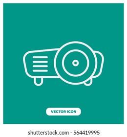 projector line vector icon