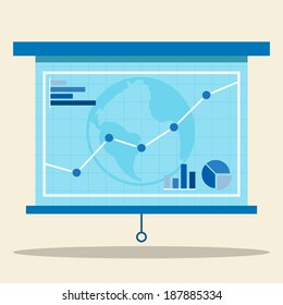 Projector screen with graph