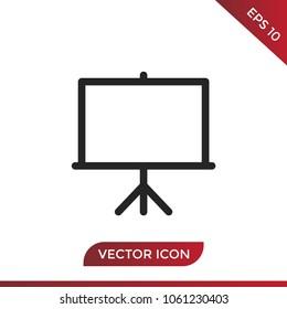 Projector screen icon vector