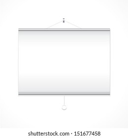 Projector screen on white background/ Vector illustration.