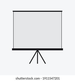Projector screen for presentations Vector image