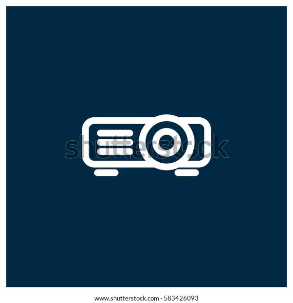 Projector vector icon