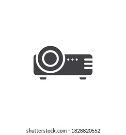Projector vector icon. filled flat sign for mobile concept and web design. Cinema projector glyph icon. Symbol, logo illustration. Vector graphics