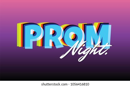 Prom night party background for poster or flyer, Vector design Banner, invitation card