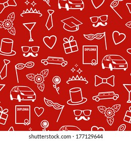 Prom Seamless Texture. Vector Pattern