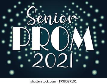 Prom Spotlight 2021 Background Logo Template