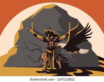 prometheus punishment eaten by an eagle