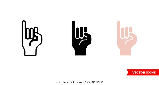 Promise icon of 3 types: color, black and white, outline. Isolated vector sign symbol.