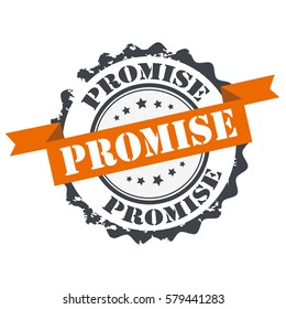 Promise stamp,sign,seal logo