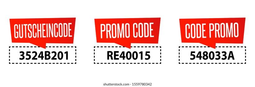 Promo code in 3 languages
