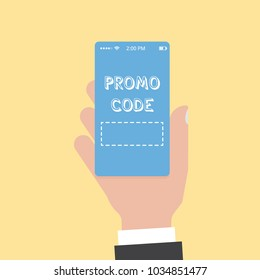 Promo code card. Discount on the banner. Discount icon. The vector in the flat.
