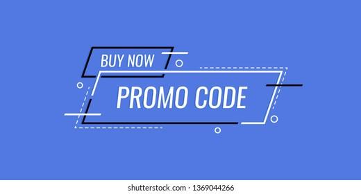 Promo code, coupon code banner design. Modern vector illustration in flat style.