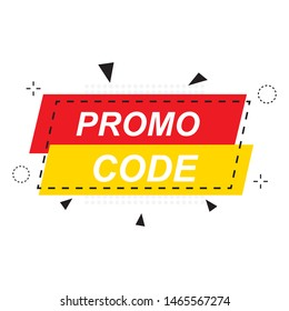 Promo code, coupon code. Flat vector set design illustration on white background. Vector Illustration.