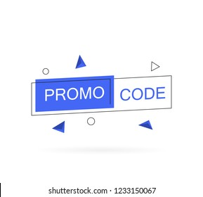 Promo code, coupon code. Modern vector illustration in flat style.