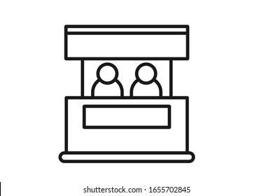 promo stand icon vector isolate