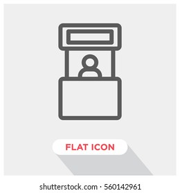 Promo stand vector icon, exhibition sybol. Modern, simple flat vector illustration for web site or mobile app