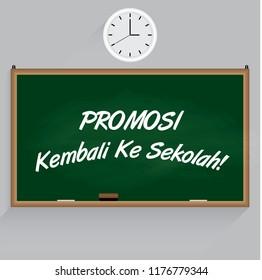 Promosi Kembali Ke Sekolah in English means Back to school promotion Vector