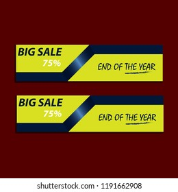 Promote banner end of the year vector