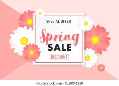 Promotion Background Poster Banner Spring Sale