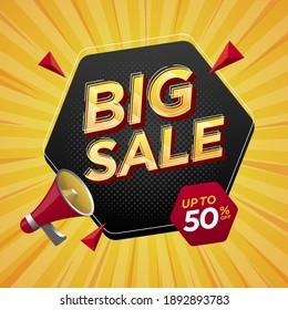 Promotion Big Sale label banner