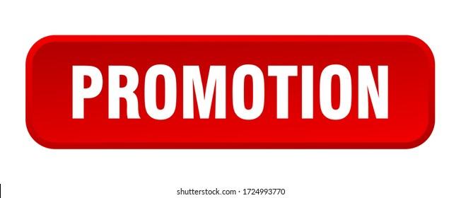 promotion button. promotion square 3d push button
