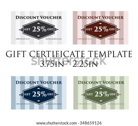 promotion certificate gift certificate promotion voucher stock