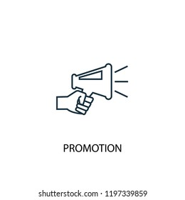 Promotion concept line icon. Simple element illustration. Promotion concept outline symbol design. Can be used for web and mobile UI/UX