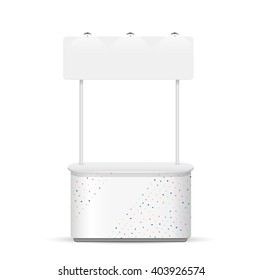 Promotion counter on white background. template vector design