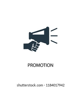 Promotion icon. Simple element illustration. Promotion concept symbol design. Can be used for web and mobile.