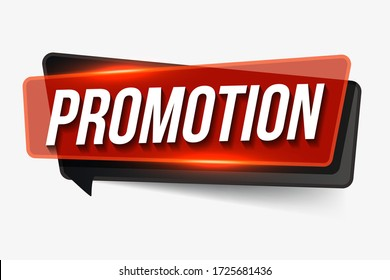 Promotion  sign. Promotion realistic paper speech bubble. banner Promotion