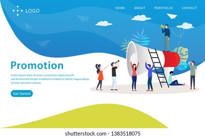 promotion vector illustration concept, can use for, landing page, template, ui, web, mobile app, poster, banner, flyer