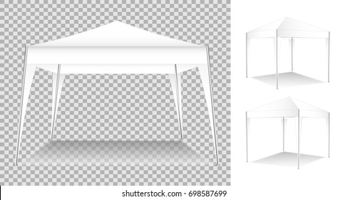 Promotional advertising outdoor event tent , Folding white tent